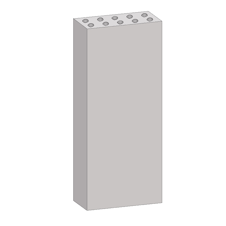 Блок электропанелей бетонный