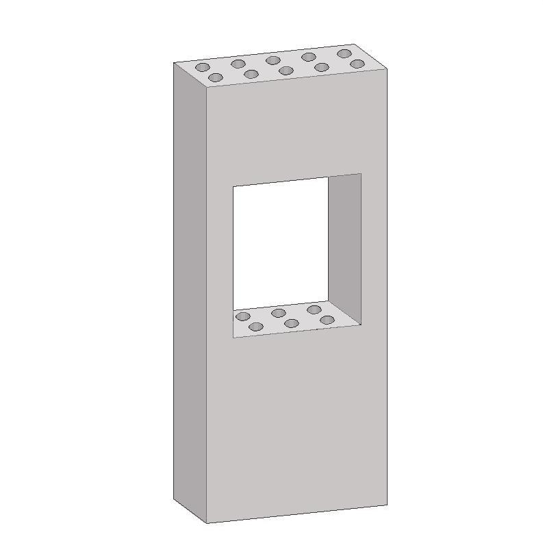 Блок слаботочный бетонный